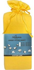 Ardenza Jersey Fitted Sheet 90-100x200cm Yellow