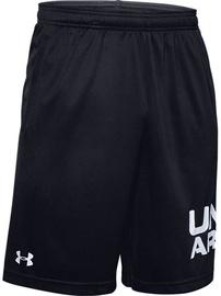 Under Armour Mens Tech Wordmark Shorts 1351653-001 Black L
