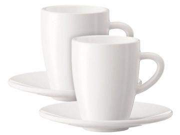 Jura Black Coffee Mugs 135ml x 2pcs White