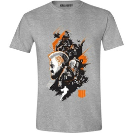 Licenced Call Of Duty Black Ops 4 Characters Montage T-Shirt Grey L