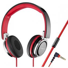 Vivanco SR770 HiFi On Ear Headphones w/ Telephone Function Red/Black