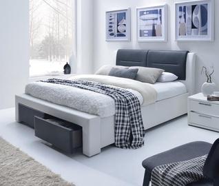 Кровать Halmar Cassandra S Black/White, 140 x 200 cm