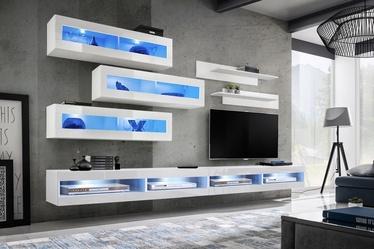 ASM Fly V Living Room Wall Unit Set White WW FY V2