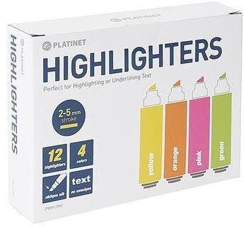 Platinet PWH12MC Highlighters 12pcs
