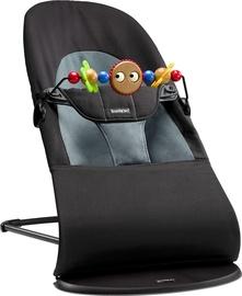 BabyBjorn Bouncer Balance Soft Black/Darkgrey With Wooden Toy 605001A