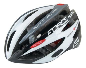 Force Road Helmet Black/White/Gray L/XL