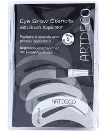 Artdeco Eye Brow Stencils With Brush Applicator 1pc