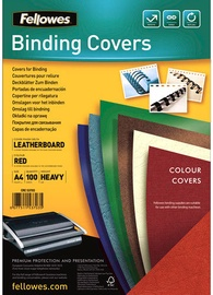 Fellowes Delta A4 FSC Binding Cover Leather Red