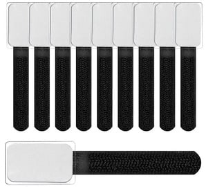 Label The Cable Mini Velcro Tie Set Of 10 Black