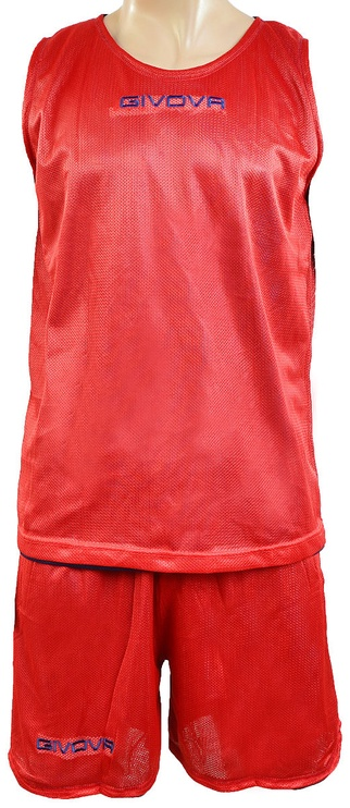 Givova Complete Double Basketball Set Blue Red S
