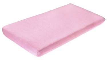 BabyOno Frotte Bed Sheet With Band 120x60 Light Pink
