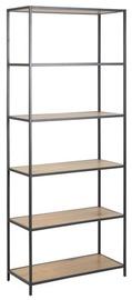 Home4you Seaford Shelf 77x35xH185cm Oak