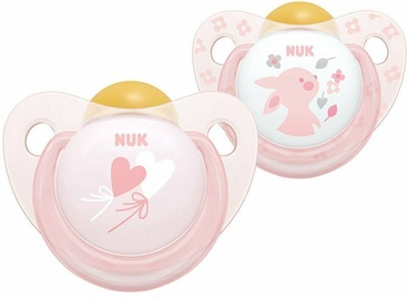 NUK Baby Rose & Blue Soothers 6-18 2pcs Pink