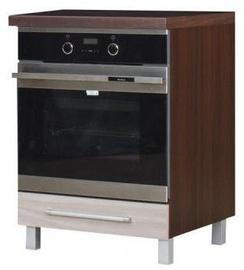 Alumine köögikapp Bodzio Loara 60ZP Latte/Nut, 600x590x860 mm