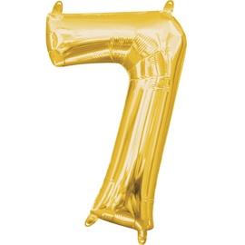 Воздушный шар Amscan NR 7, золотой, 1 шт.