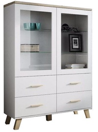 Cama Meble Lotta Showcase White Sonoma Oak