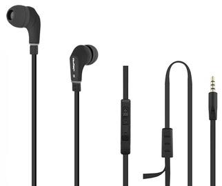 Qoltec Premium Earphones w/Mic Black