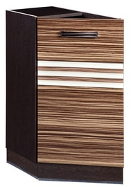 DaVita Rio 16.65 Kitchen Bottom Cabinet Left Wenge Oak/Brown