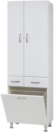 Sanservis P-3-K with Basket White 60x191x40.5cm