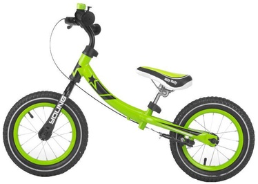 Lastejalgratas Milly Mally Young Balance Bike Green 2077