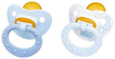 Nuk Baby Blue Latex Soothers 2pcs 6-18 10733772