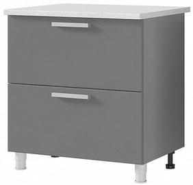 Нижний кухонный шкаф MN Arabika 8P2 Grey, 800x500x820 мм