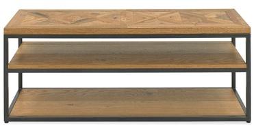 ТВ стол Home4you Indus Mosaic Oak/Grey, 1160x370x450 мм