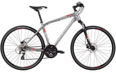 "Jalgratas Kross Evado 4.0 M 28"" Graphite Silver Red Matte 2017"
