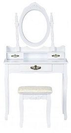 GoodHome Dressing Table w/ Mirror 3238 White