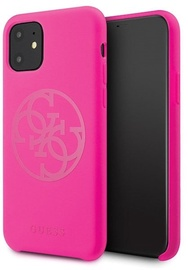 Guess 4G Tone On Tone Back Case For Apple iPhone 11 Pro Max Dark Pink