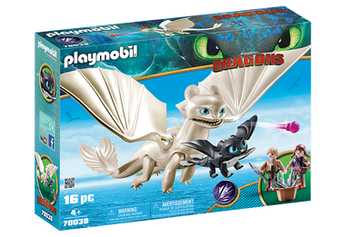 Playmobil Dragons Light Fury With Baby Dragon And Children 70038