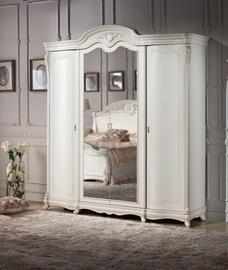 MN Milana 4D Wardrobe w/ Mirror White