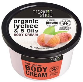 Organic Shop Body Cream Pink Lychee 250ml