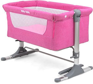 Milly Mally Side By Side Sleeping Crib Pink
