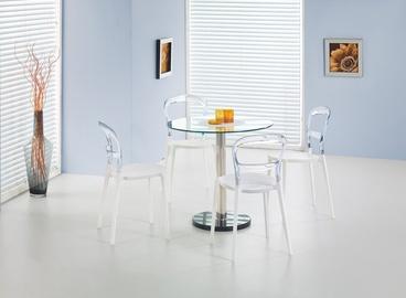 Söögilaud Halmar Cyryl Glass/Transparent, 800x800x740 mm