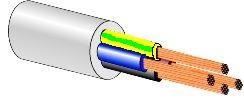 Lietkabelis BVV-LL 4 x 1,5 mm²