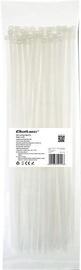Qoltec Zippers Nylon UV 4.8x350mm 100pcs. White
