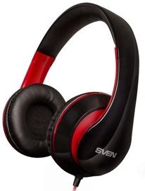 Sven AP-940MV Headphones w/Mic Black Red