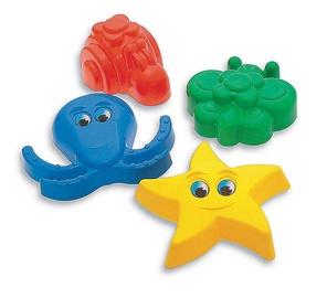 Набор игрушек для песочницы Adriatic 645027, многоцветный, 4 шт.