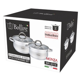 Belly shape 4 pcs cookware set