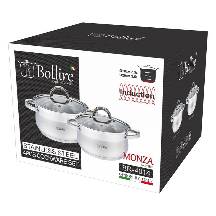 Belly shape 4 pcs cookware set