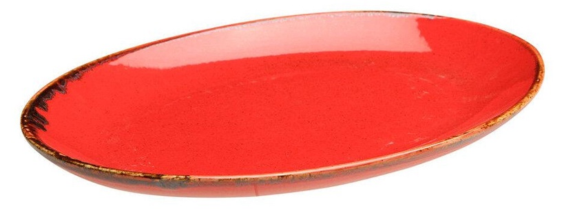 Porland Seasons Oval Plate 18.55x24.3cm Red