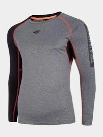 4F Men's Training Long Sleeve Top Grey S H4L20-TSMLF001-24M