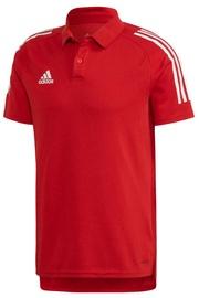 Adidas Mens Condivo 20 Polo Shirt ED9235 Red S