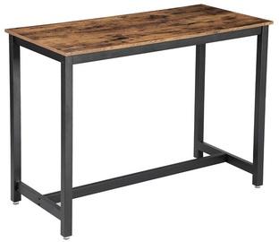 Обеденный стол Songmics, коричневый/черный, 1200x600x900мм