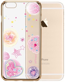 X-Fitted Pink Dream Swarovski Crystals Back Case For Apple iPhone 6/6s Gold