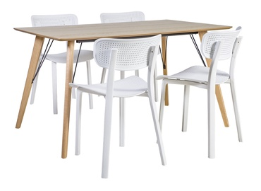Home4you Helena/Novella Dining Set White/Oak
