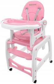 Стульчик для кормления EcoToys Rocking, розовый