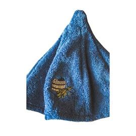 Sauna hat with bucket picture, blue color 100% cotton