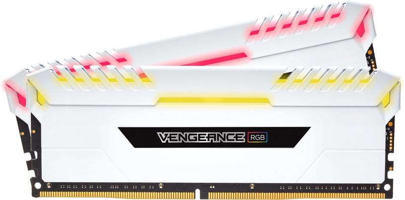 Corsair Vengeance RGB LED White 16GB 3000MHz CL16 DDR4 KIT OF 2 CMR16GX4M2C3000C16W